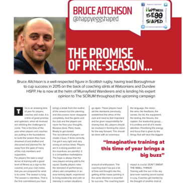 Happiness is Egg Shaped Debuts in SCRUM Magazine