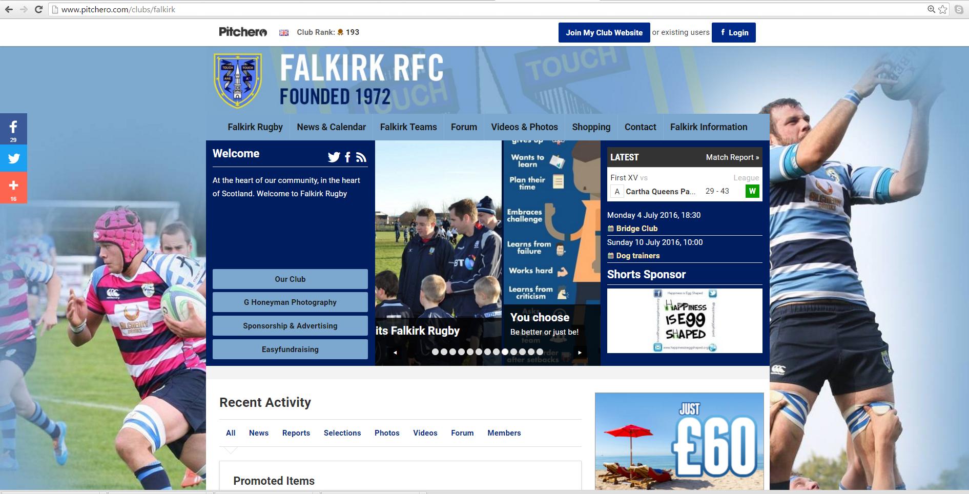 Falkirk RFC website